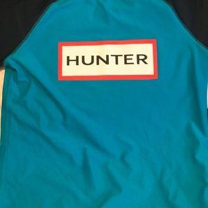 Hunter brand Youth medium swim top blue and navy